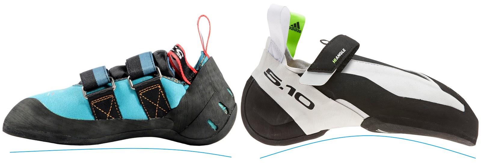 5.10 tırmanış ayakkabısı aşağı bükümlü kalıp