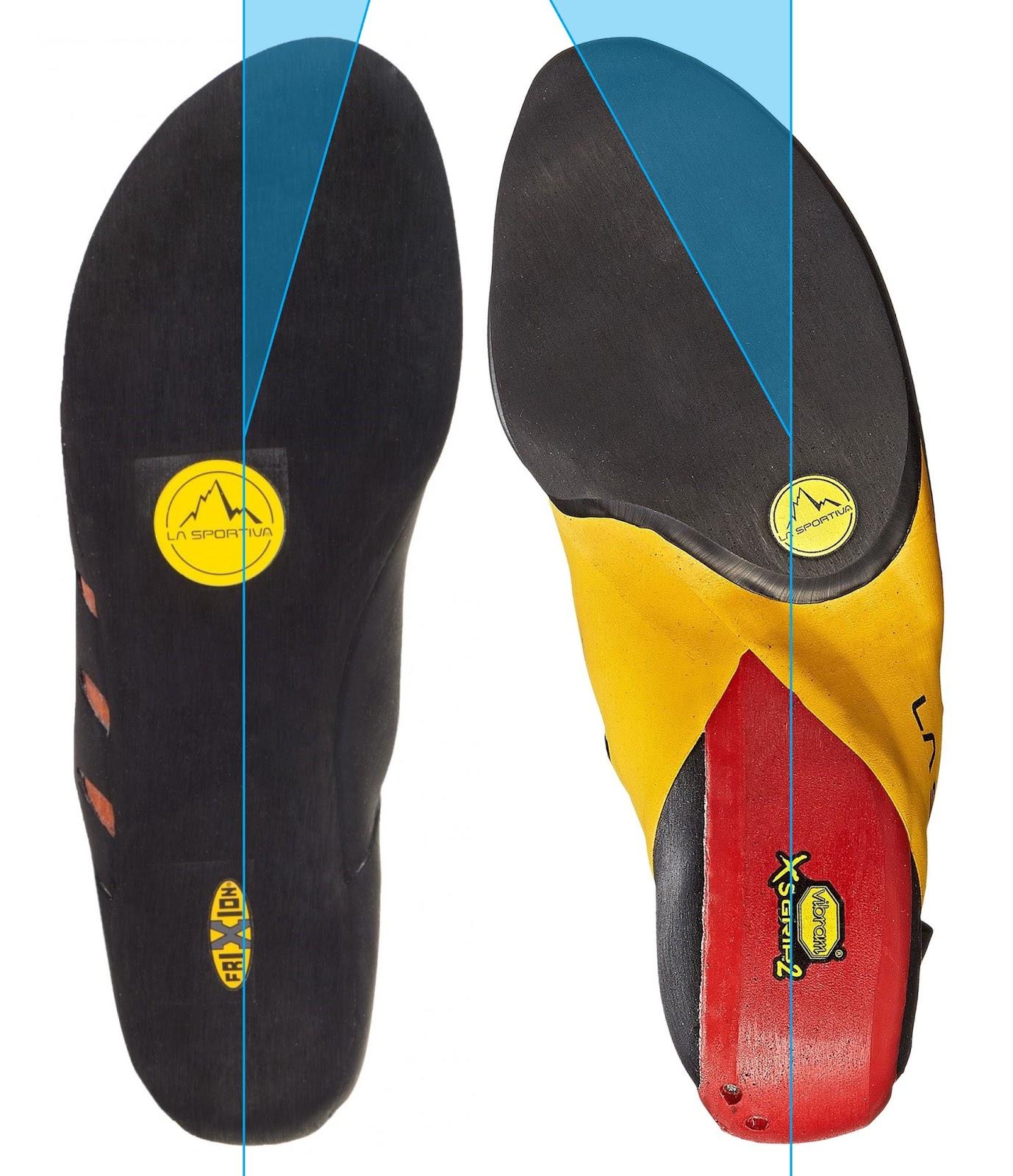 la sportiva tırmanış ayakkabısı asimetrik kalıp