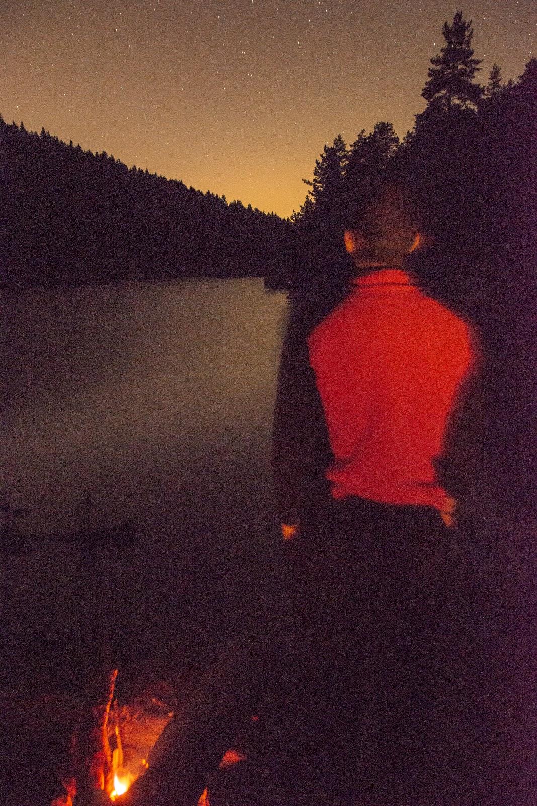 bozcaarmut göleti, gece, yıldızlar