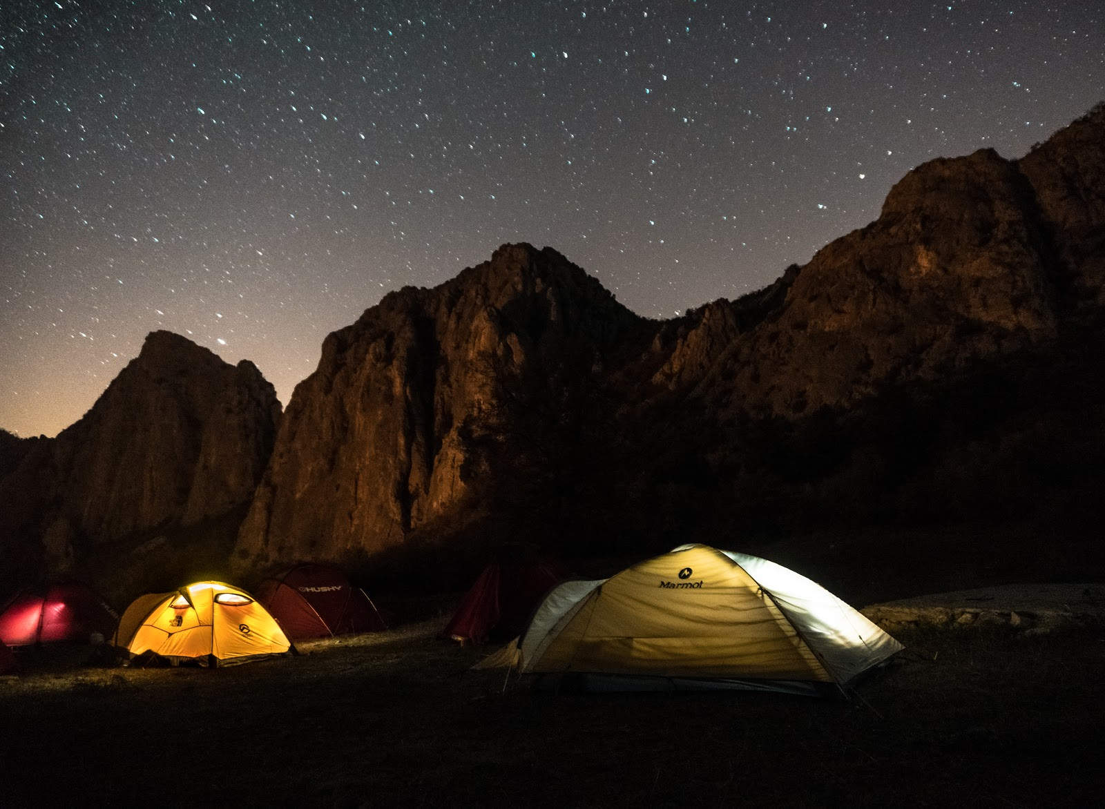 geyve, çadır, gece, yıldızlar