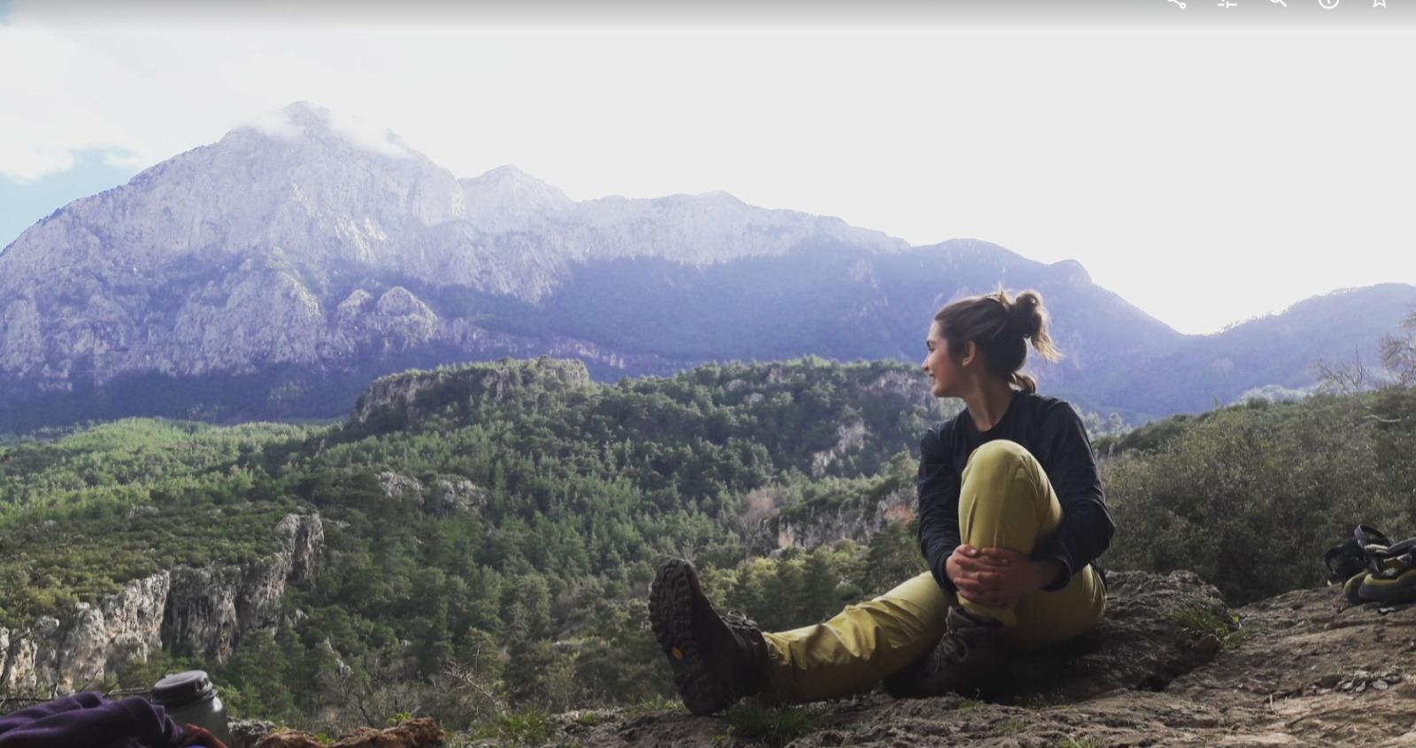Özgen Göçmen kaya tırmanışı