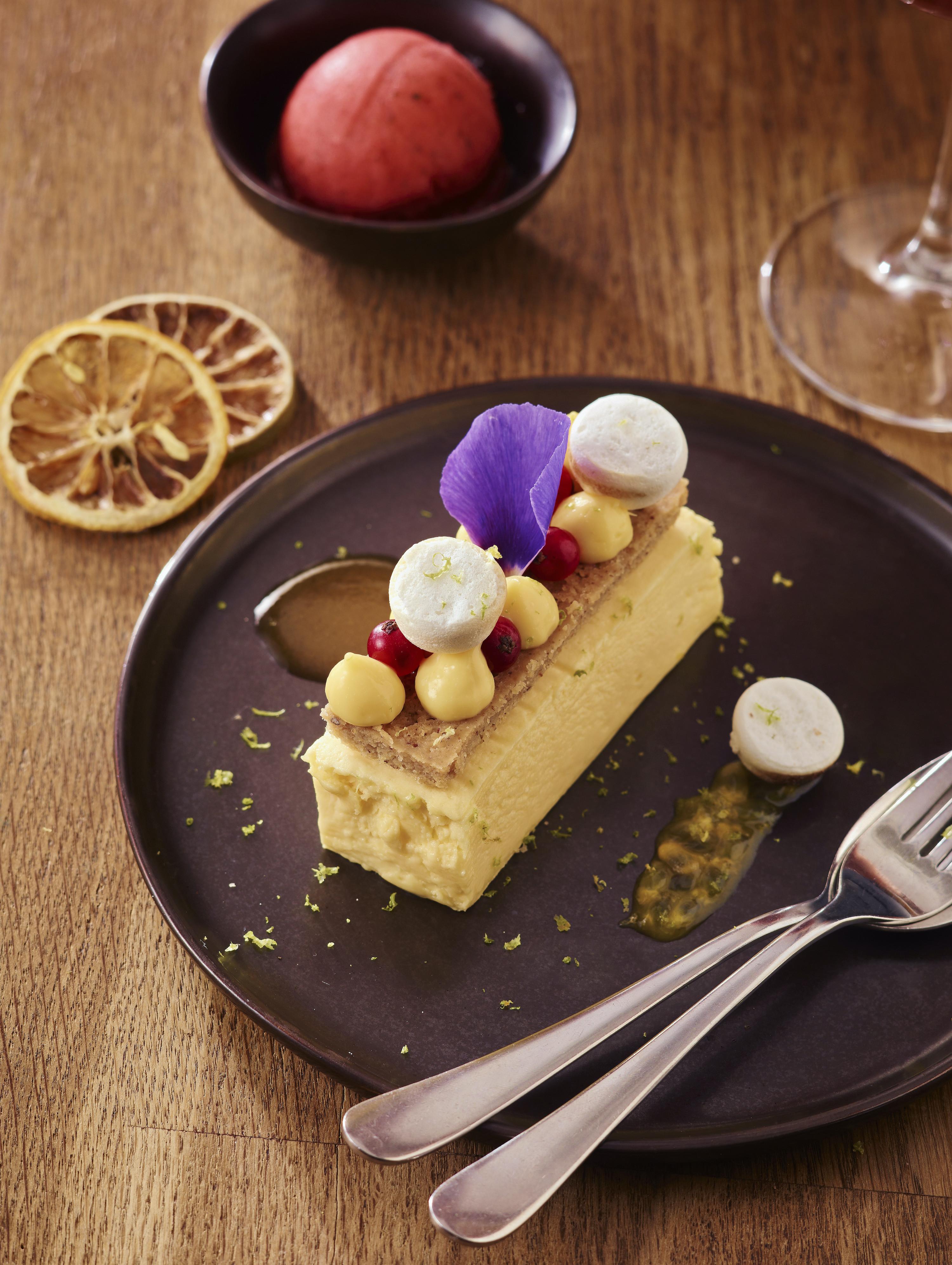 cuisine gastronomique, dessert, parfait au citron
