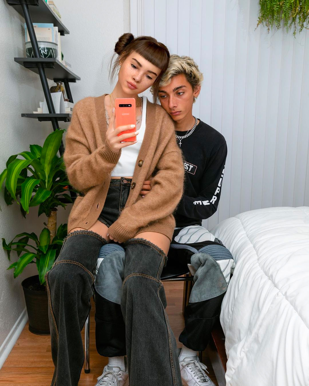 Los Angeles Model Nick Killian with Lil Miquela