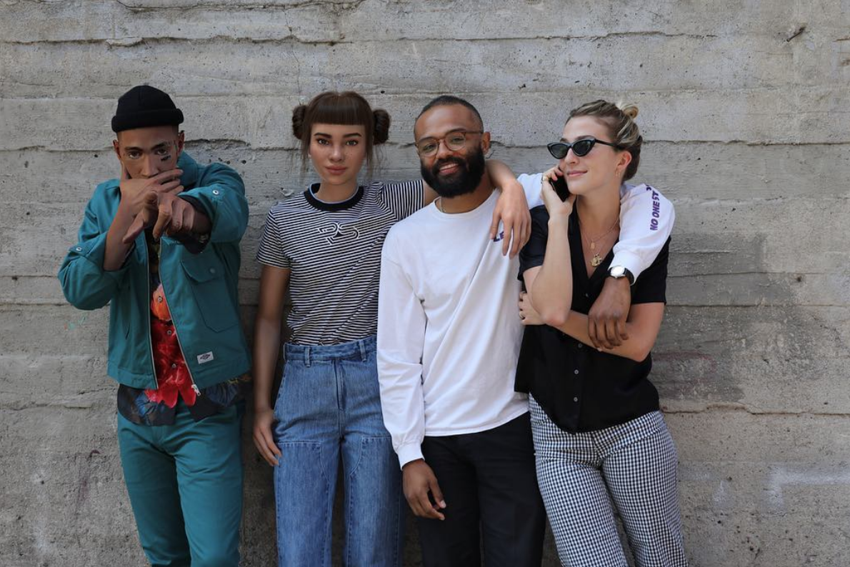 Miquela with Brud Co-Founders