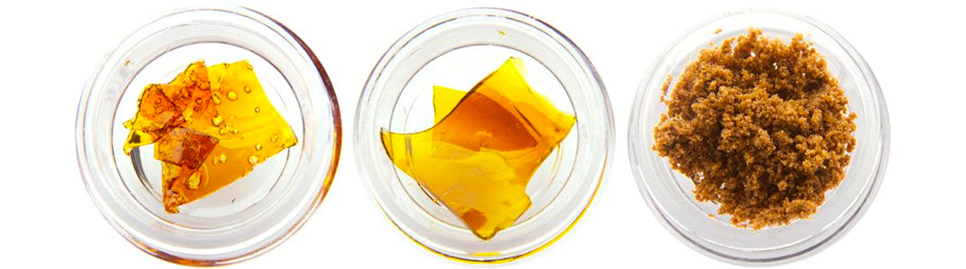 cannabis concentrates in small containers