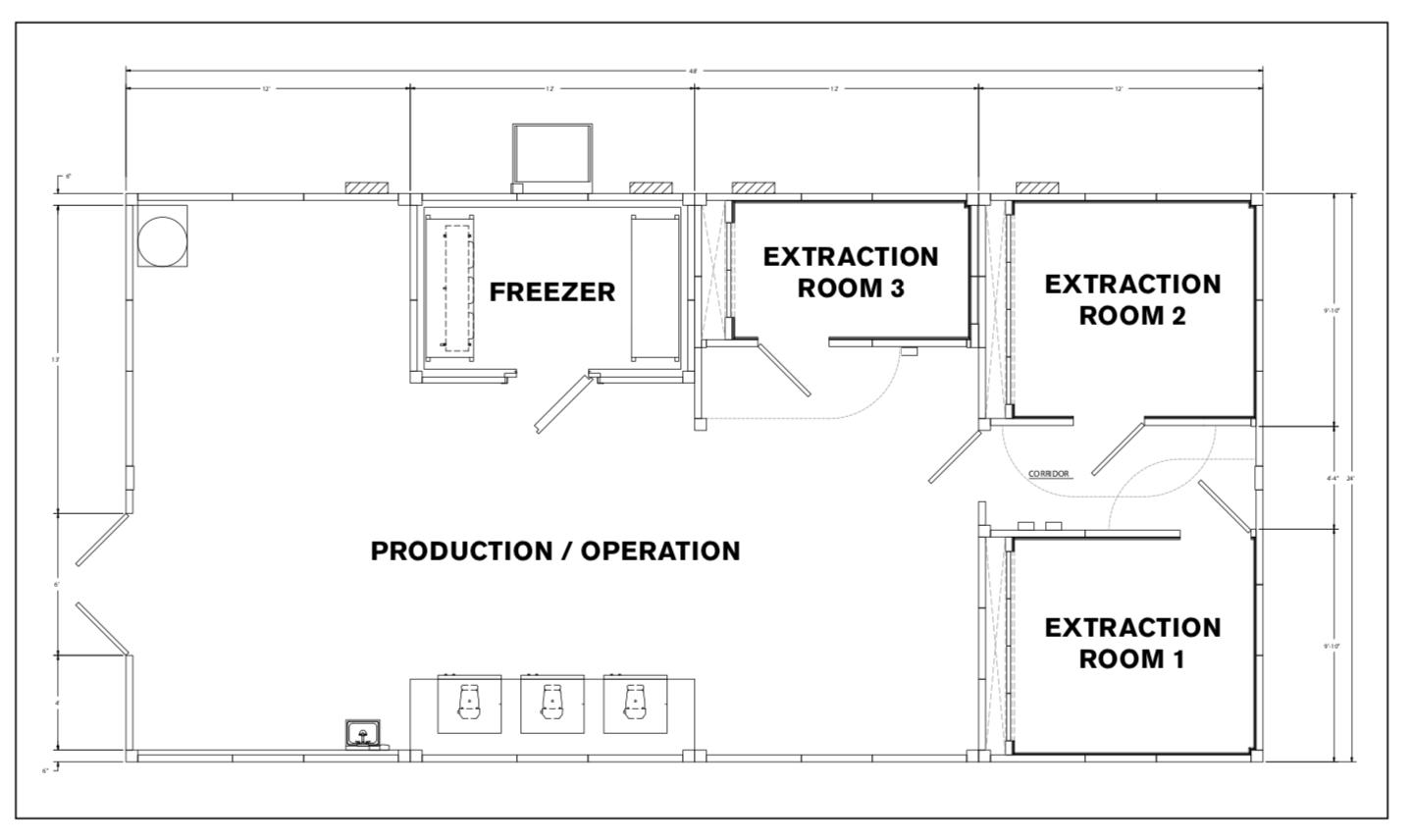 cannabis processing facility clean room modular construction