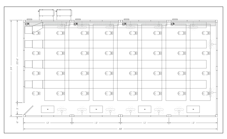 modular construction cultivation cannabis floor plan