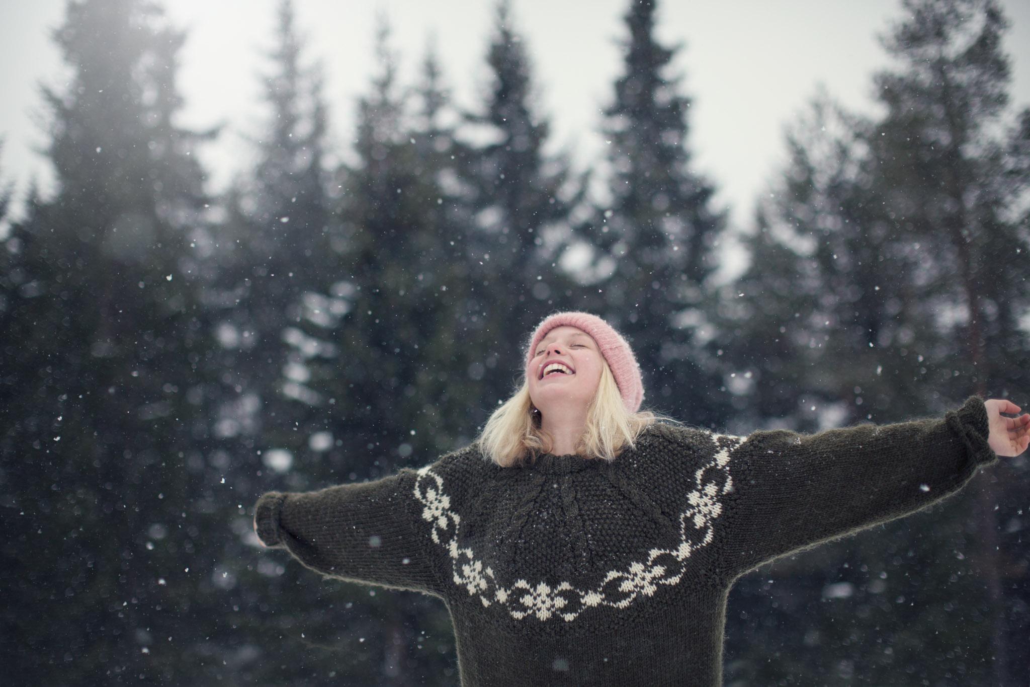Barnefotografering - Natur, natur, lys, snø - Fotograf Ida Hvattum