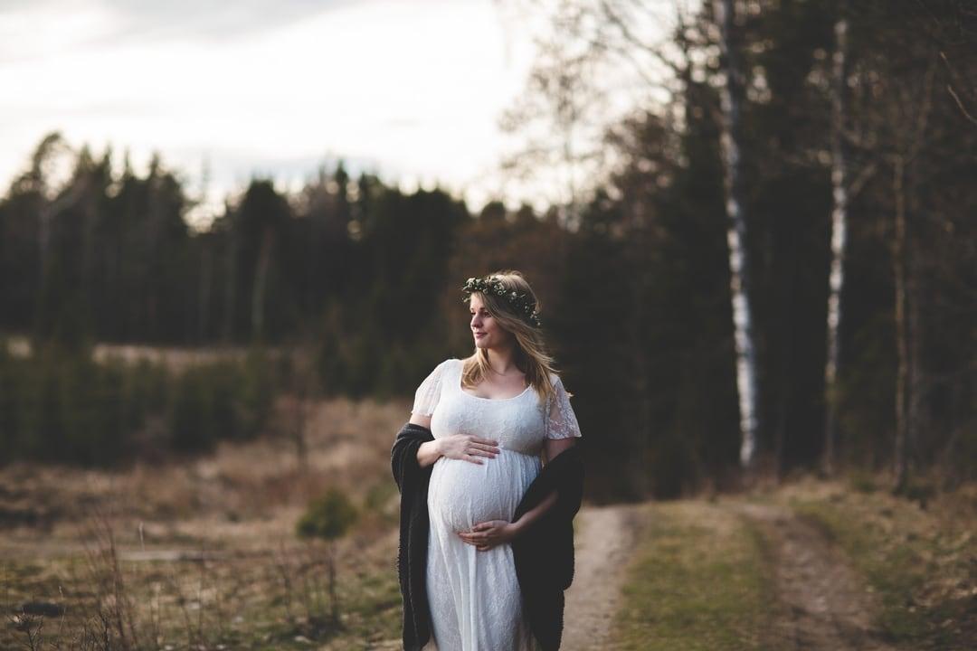 Gravidfoto - Skog og natur - Fotograf Ida Hvattum