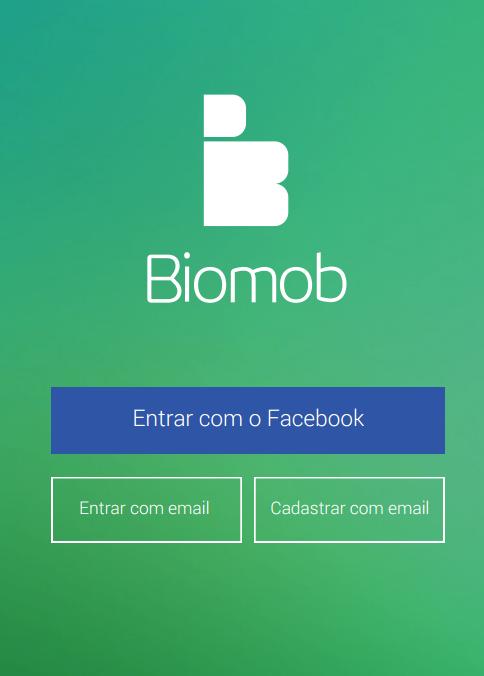Tela de cadastro do biomob