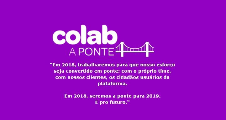 Manifesto do Colab como sendo a ponte entre cidades e cidadãos