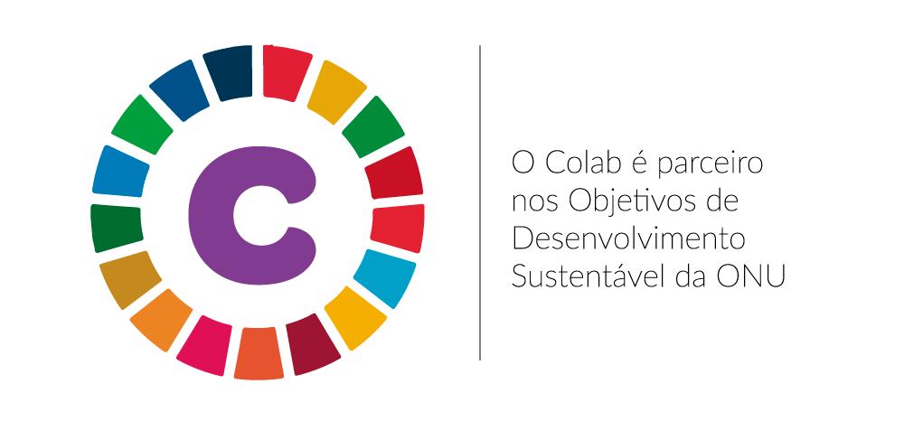 Banner anunciando o Colab como parceiro nos objetivos de desenvolvimento sustentavel da onu