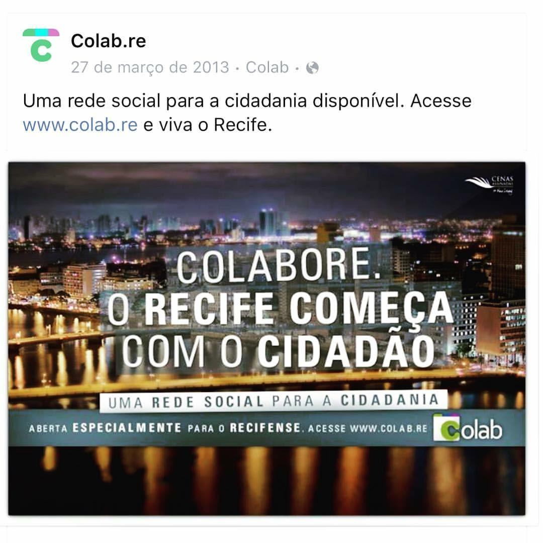 Print de um post do Colab anunciando a parceria com a prefeitura de Recife