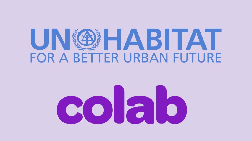 "Imagem com o texto ""UN-HABITAT For a better urban future"""