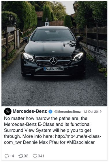 Mercedes-Benz Twitter Social Display ad - Spaceback