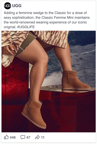 UGG Facebook Social Display marketing - Spaceback