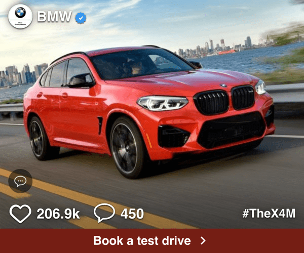 bmw programmatic social media ad