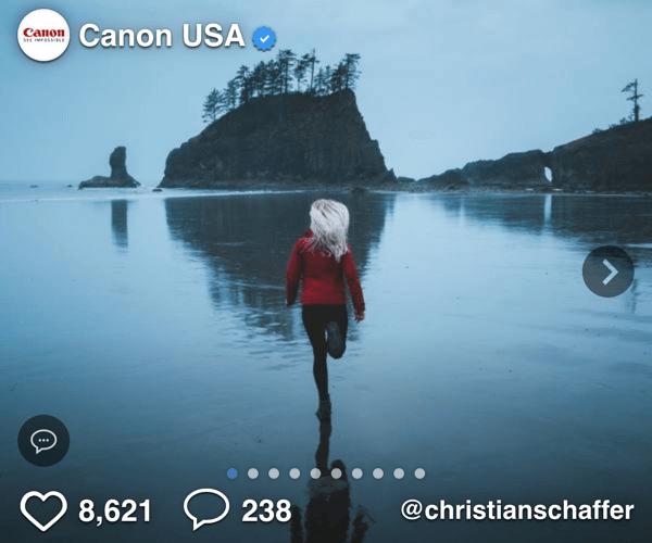 Canon Influencer Social Display Ad - Spaceback