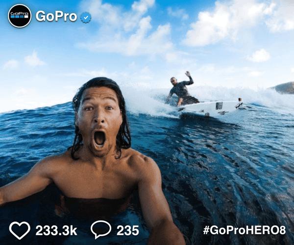 GoPro Instagram Social Display Ad Example
