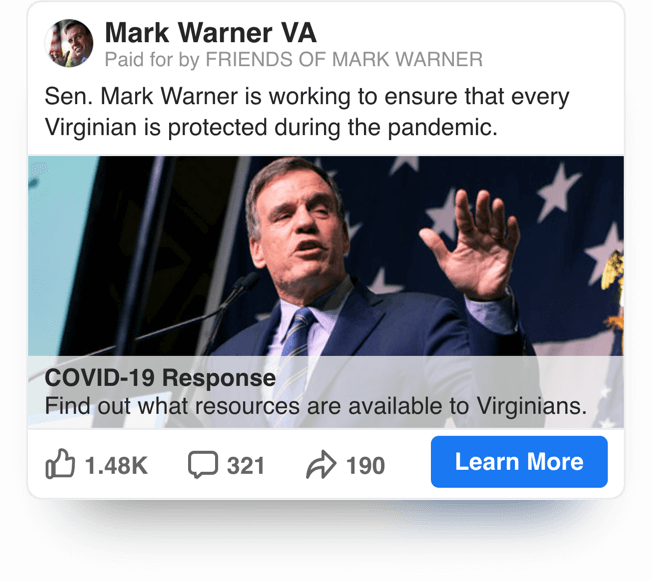 Senator Mark Warner 300x250 Spaceback Political Ad