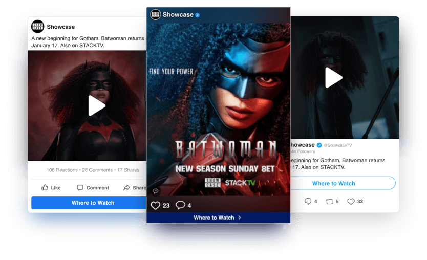 Batwoman Social Display Case Study - Hero