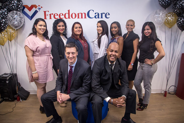 FreedomCare workers posing for a photo