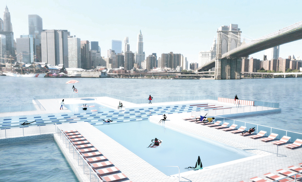 How FOOD designed a floating pool in a river