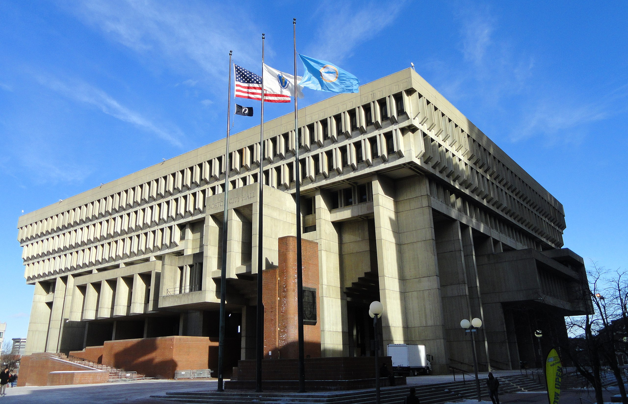 Boston City Hall designed by Kallmann, McKinnell & Knowles, 1968
