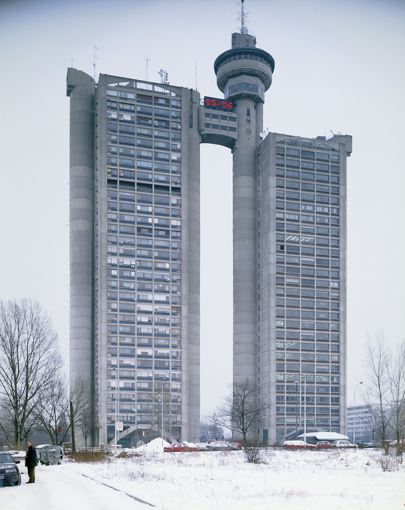 Western City Gate/Genex Tower designed by Mihajlo Mitrović, 1979