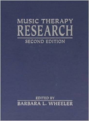 Navy blue book cover with gold tire Music Therapy Research.