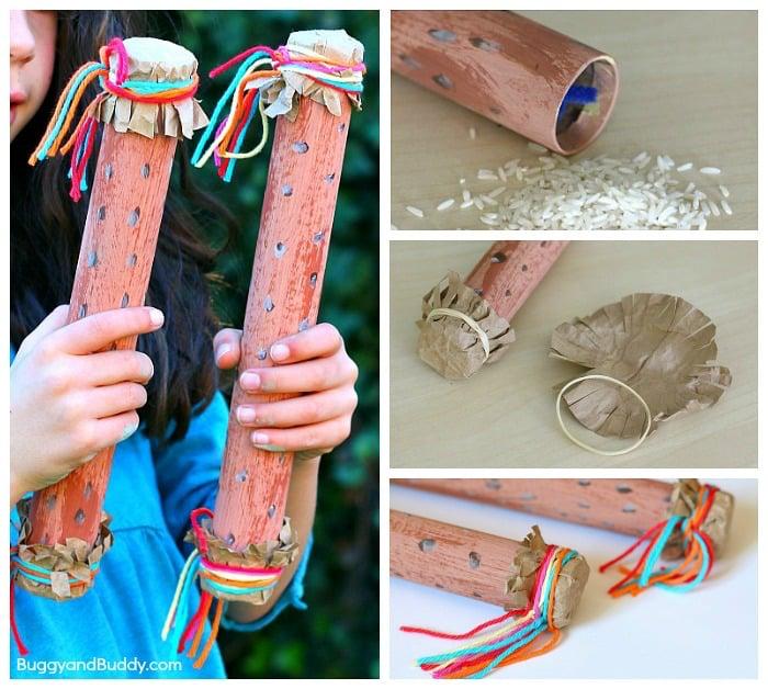 step to step photo of how to make a rainstick