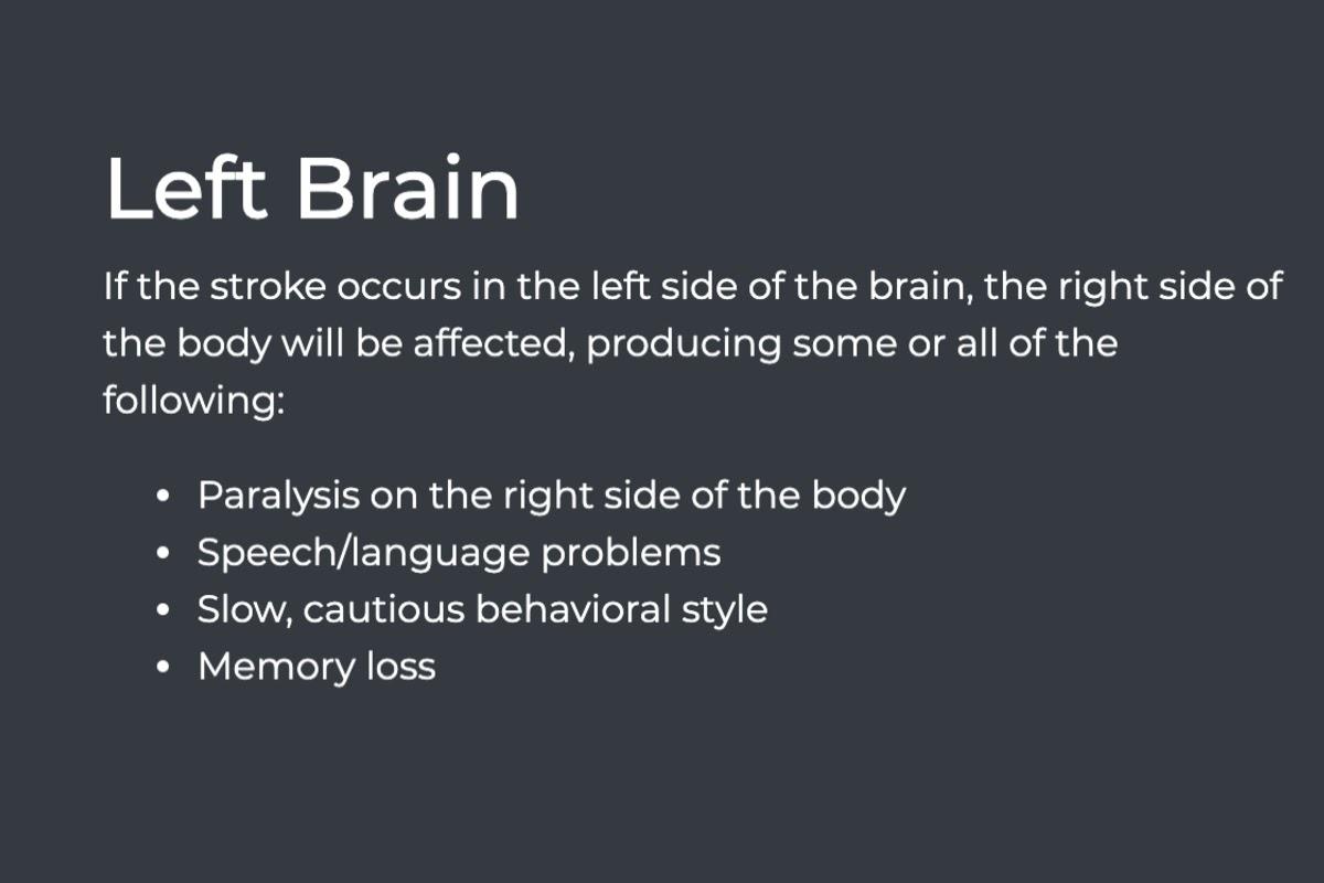 left brain chart