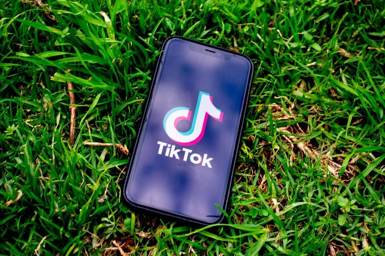 the TikTok app open on an iPhone