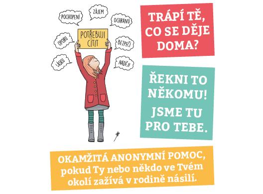 Reklama na online chat Dětství bez násilí