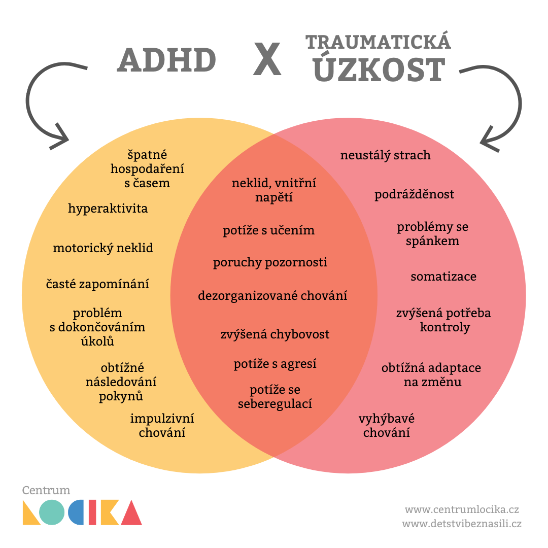 ADHD vs úzkost