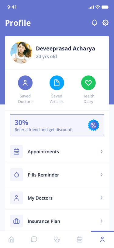 Digital Clinic client Profile