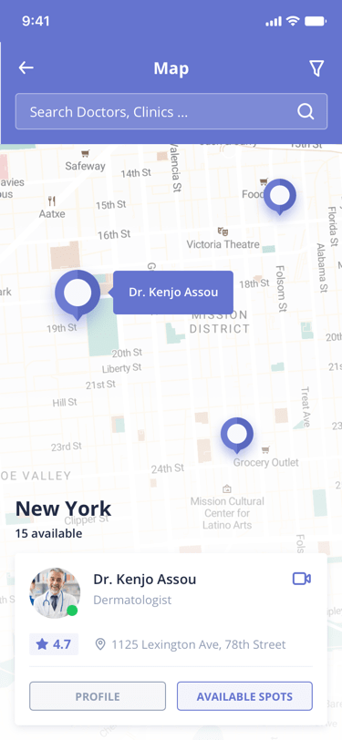 Digital Clinic Map