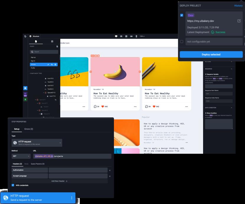 UI BAKERY - Full-cycle visual web app builder based on Angular