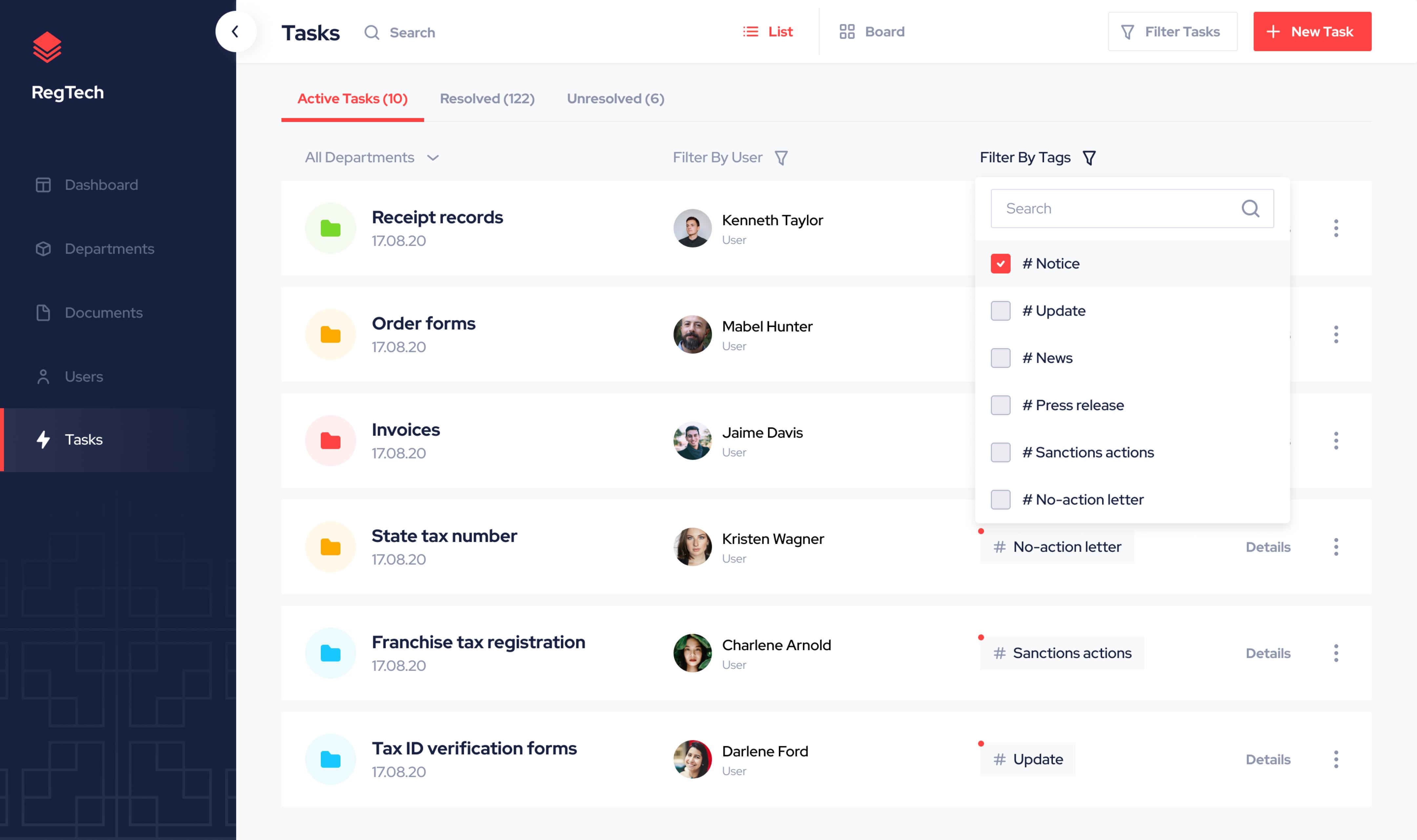 Tasks Admin Panel