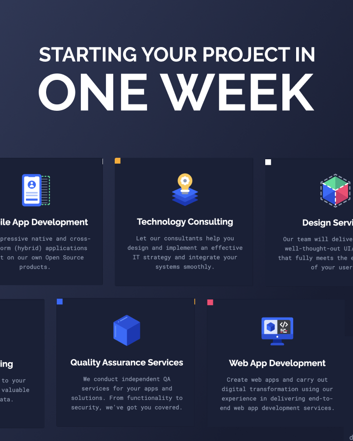 Starting your software project in one week