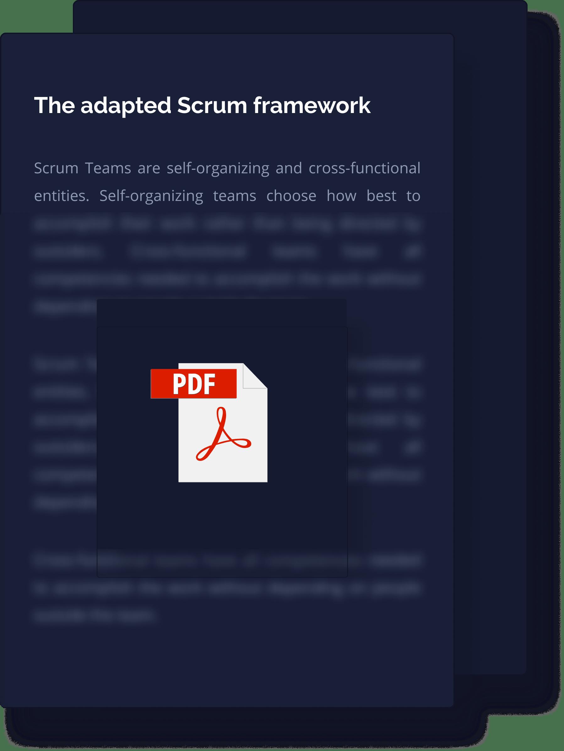 Adapted Scrum Framework