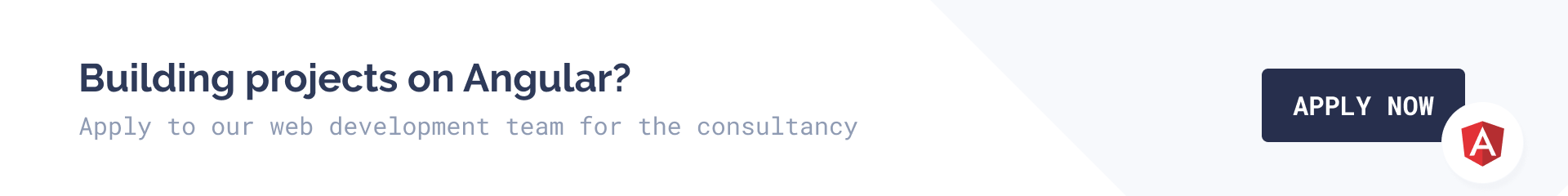 Apply to our web development team for the consultancy