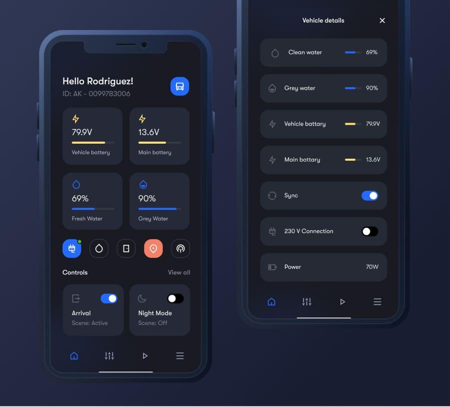 Dark Mobile App