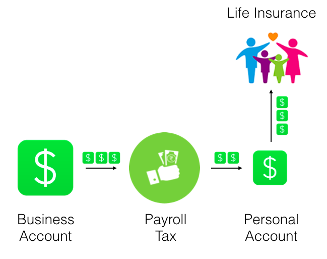 Infographic on a tradtional life insurance policy.