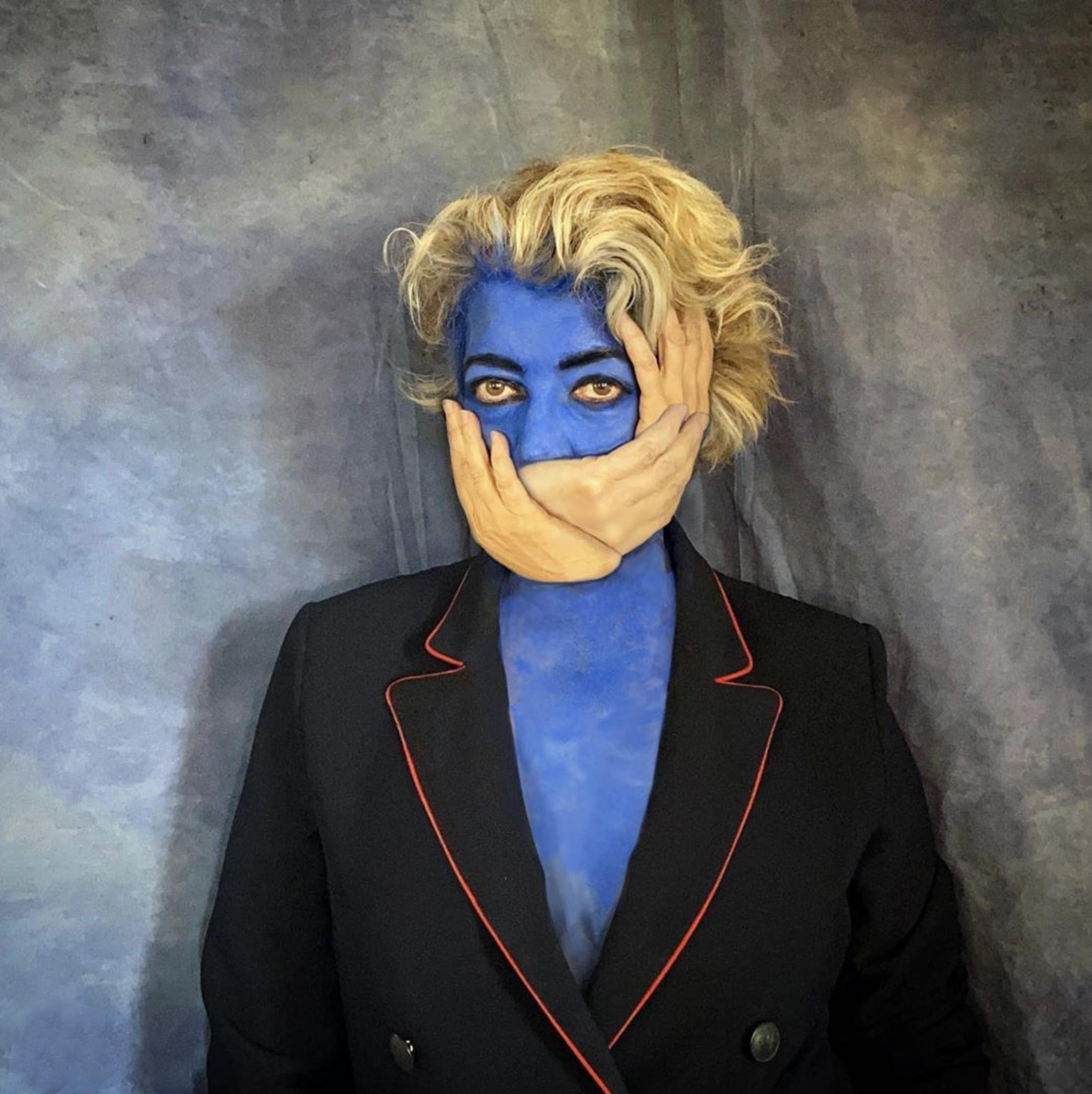 © Hélène Guétary (Paris, France) | Hand made mask for a blue day