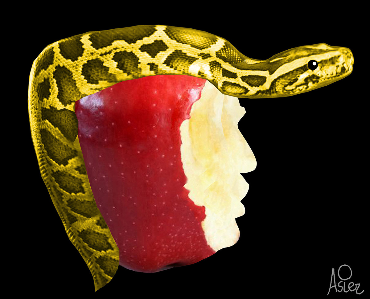 © Asier Sanz (Bilbao, Spain)   Trump apple snake facebook