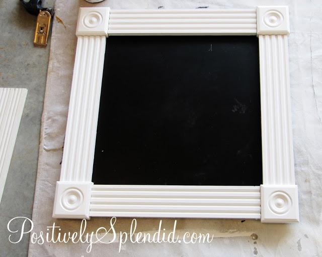 DIY Framed Chalkboard Tutorial | Positively Splendid {Crafts, Sewing, Recipes and Home Decor}