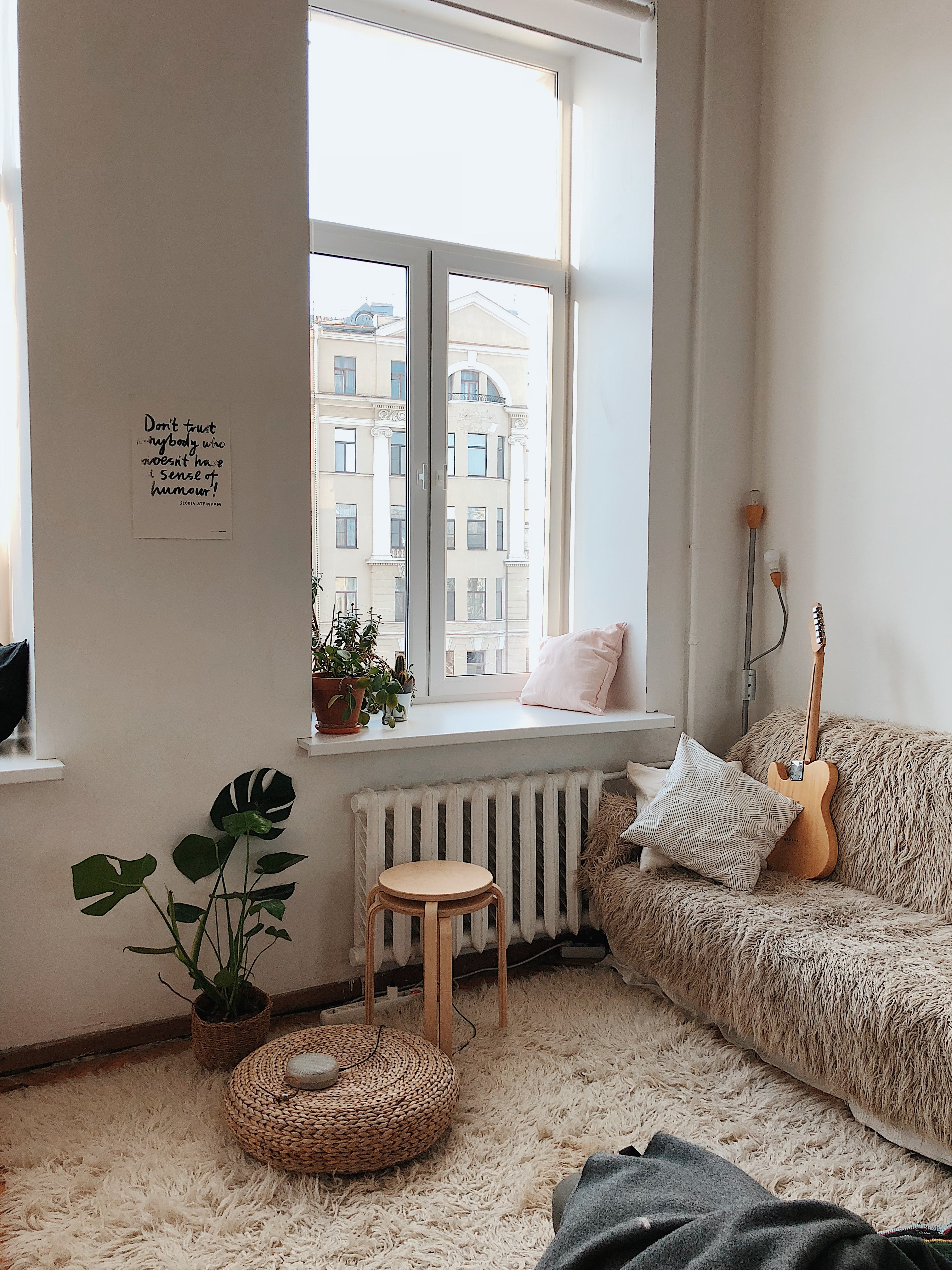 First apartment home with decorations