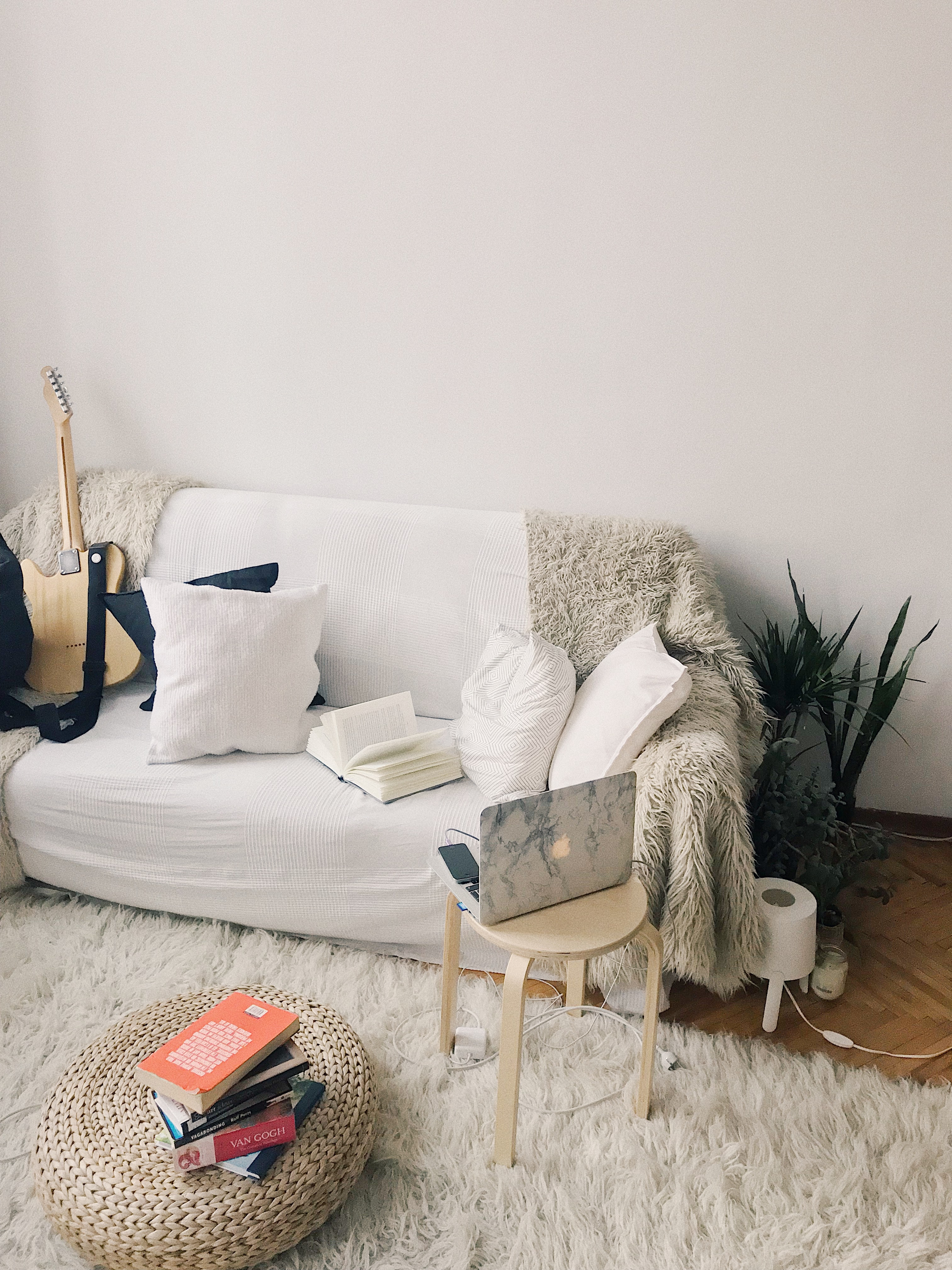 apartment decor with tan accents