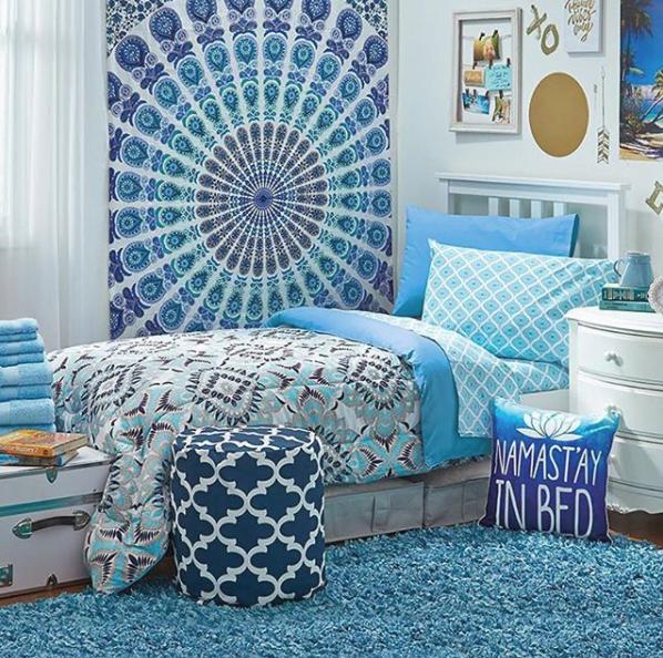 OCM Blue and White bedding sets